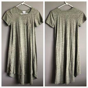 Lularoe • Carly Green grey dress